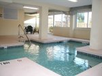 Relax and enjoy the indoor swimming pool with jetted area
