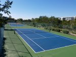 Get a workout on one of the tennis or pickle ball courts