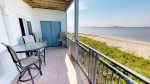 Enjoy gorgeous views of the Savannah River and Atlantic Ocean from balcony