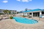 Enjoy three pools, one heated and one kiddie, lots of deck space and direct access to the beach