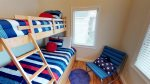 Guest bedroom 3 with double/twin bunk bed, trundle and TV