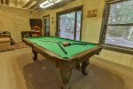 Lower level pool table