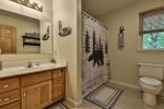 Master Bathroom with jetted tub and walk in shower