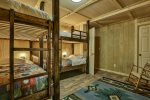 Lower Room with 2 Adult Size Bunk Beds