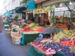 Rue Poncelet outdoor market - fresh produce, ready-to-eat food, fruit & veg, flowers