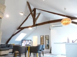 Le Manlie : Modern Loft living in 1700's Historic building, Heart of Old Town Amboise - A/C