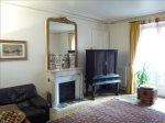Salon w/Haussman Elegance-marble fireplace, ceiling mouldings, parquet floors