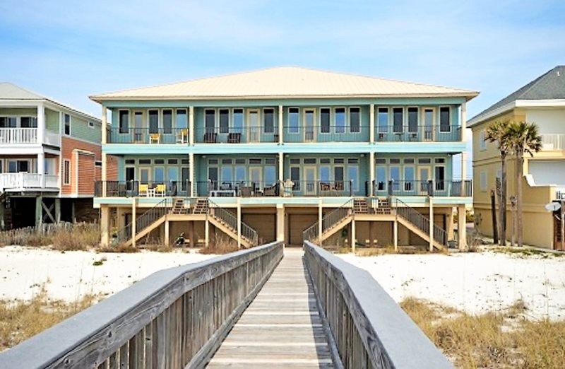 Luxury 4 Bedroom Navarre Beach Gulf Front Vacation Al Town Home Directly On The Of Mexico