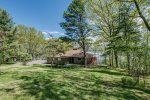Gas grill on the deck