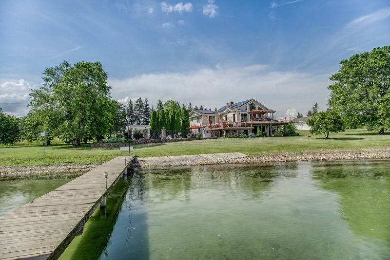 Spacious Luxury Home On Cayuga Lake With Large Lake Front, In Ground Pool  And 4 Bedrooms