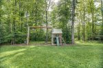 Swingset and childrens play area