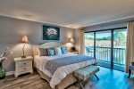 Master Bedroom with Lake Views and Balcony
