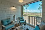 Screened porch with amazing views