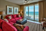 Spacious Living Area with Non-Stop Beach and Gulf Views