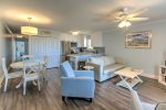 Plenty of seating in this completely remodeled condo