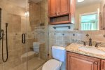Master bath with large walk in shower.
