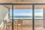 Beautiful ocean views from this second floor condo with elevator