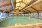 Hop in the indoor heated pool at the Rec Center just across the street