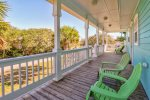 Relax on your front porch. The beach is right across the street