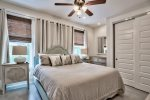 2nd Floor Master King Bedroom with Private Balcony and Bath