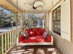 Front Porch with bed swing