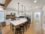 Open Concept Kitchen with Gas Range