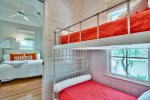 Twin Bunk Bedroom Leads to Living Area