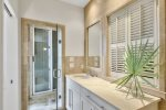 Enjoy the Private Outdoor Shower Leading to the Terrace