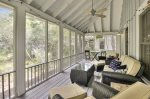Relax and unwind on the covered porch