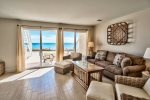 Living Room Area with Gulf Front Views