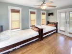 Third floor twin beds with trundle