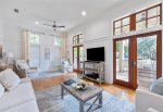 Covered Front Porch with Bed Swing