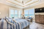 Gorgeous sunset views and from the private ocean front balcony in the west bedroom suite third floor.