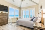 Second ocean front master suite east on the third floor boasts amazing views of the county pier both day and night as well as the sunset with access to the private third floor balcony.
