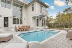 Great patio area with a private heated pool.