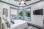 Catch the views in this Queen bedroom, first floor with a connecting bathroom
