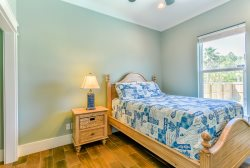 The upstairs common area has Twin bed nook, Sleeper sofa, and Flat TV