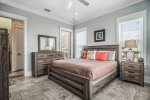 Upper master suite. Includes mini kitchen area.  Large master bathroom.