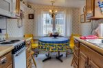 Dining Table in Kitchen at Sandpiper Cottage