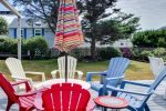 Patio Furniture on Back Yard Deck at Sandpiper Cottage