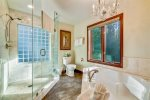 1st upstairs master bath at Costa Brava Villa