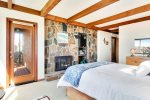 Master bedroom with queen bed at Beach Haven