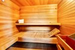 Thrid floor sauna at Beach Haven