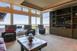 Family room with ocean views at Ocean Chateau