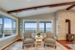 Living area with view at Sand Dollar