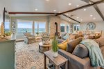 Living area and view at Sand Dollar