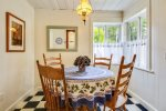 Dining nook at Lil` Bird Cottage
