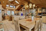 Large Kitchen with 2 islands at Cove Beach Lodge