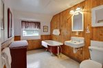 Upstairs Bathroom with Claw Foot Tub at Haystack Close North