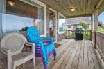 Back Porch with ocean view at Haystack Close South
